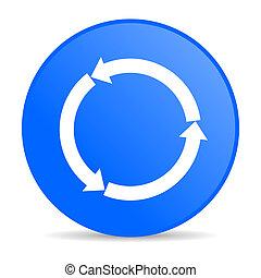 refresh blue circle web glossy icon