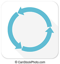 refresh blue flat icon