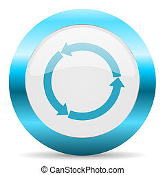 refresh blue glossy icon