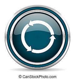 refresh blue glossy web icon