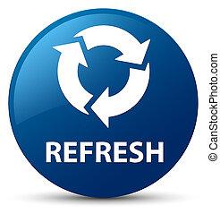 Refresh blue round button
