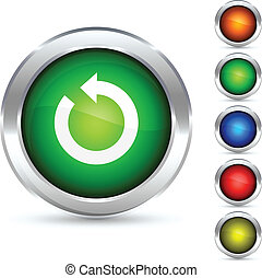 Refresh detailed button. Vector illustration.