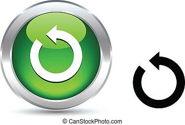 Refresh realistic button. Vector illustration.