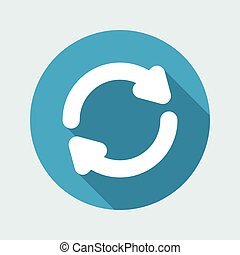 Refresh button - Vector flat minimal icon