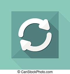 Refresh button - Vector flat minimal icon