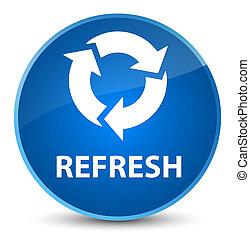 Refresh elegant blue round button