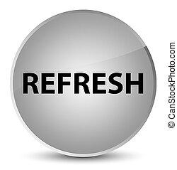 Refresh elegant white round button