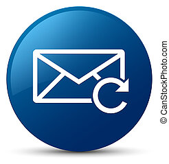 Refresh email icon blue round button