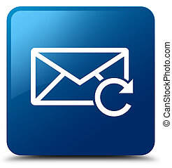 Refresh email icon blue square button