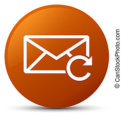 Refresh email icon brown round button