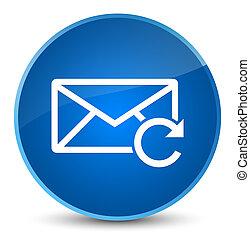 Refresh email icon elegant blue round button