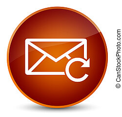 Refresh email icon elegant brown round button