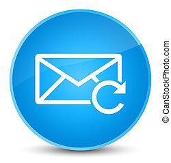 Refresh email icon elegant cyan blue round button
