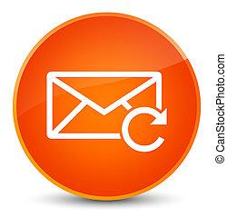 Refresh email icon elegant orange round button