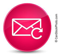 Refresh email icon elegant pink round button