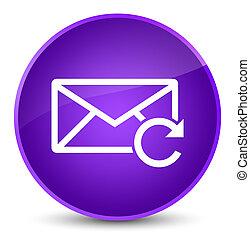 Refresh email icon elegant purple round button