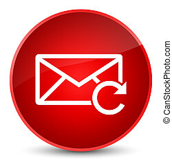 Refresh email icon elegant red round button