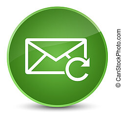 Refresh email icon elegant soft green round button
