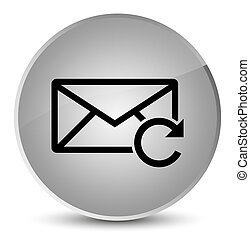Refresh email icon elegant white round button