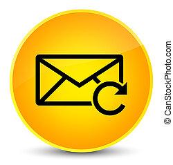Refresh email icon elegant yellow round button