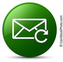 Refresh email icon green round button