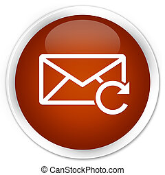 Refresh email icon premium brown round button