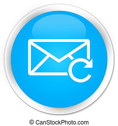 Refresh email icon premium cyan blue round button