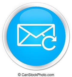 Refresh email icon premium cyan blue round button