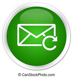Refresh email icon premium green round button