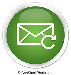 Refresh email icon premium soft green round button