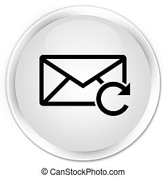 Refresh email icon premium white round button