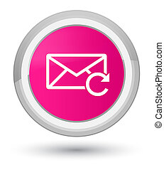 Refresh email icon prime pink round button