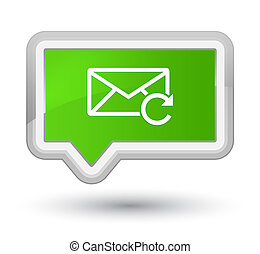 Refresh email icon prime soft green banner button