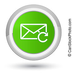 Refresh email icon prime soft green round button