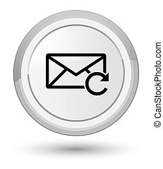 Refresh email icon prime white round button