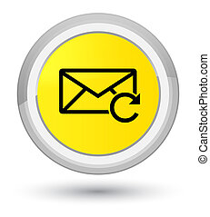 Refresh email icon prime yellow round button