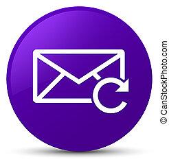 Refresh email icon purple round button