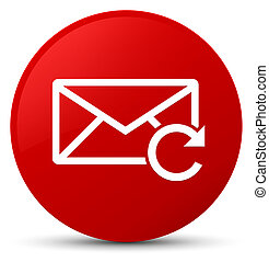 Refresh email icon red round button