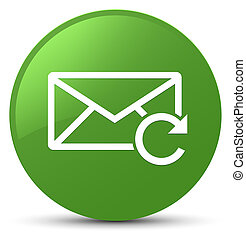 Refresh email icon soft green round button