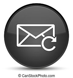 Refresh email icon special black round button