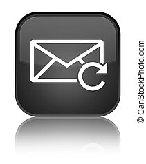 Refresh email icon special black square button