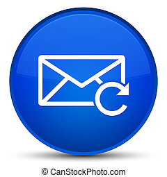 Refresh email icon special blue round button
