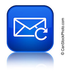 Refresh email icon special blue square button