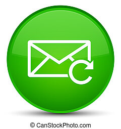 Refresh email icon special green round button