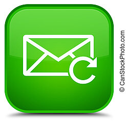 Refresh email icon special green square button