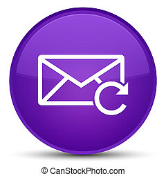 Refresh email icon special purple round button