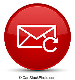 Refresh email icon special red round button