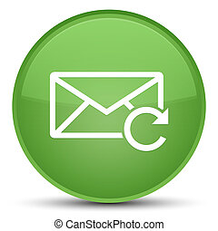 Refresh email icon special soft green round button