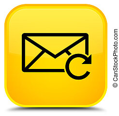 Refresh email icon special yellow square button