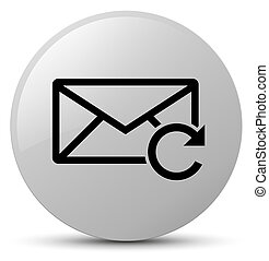 Refresh email icon white round button